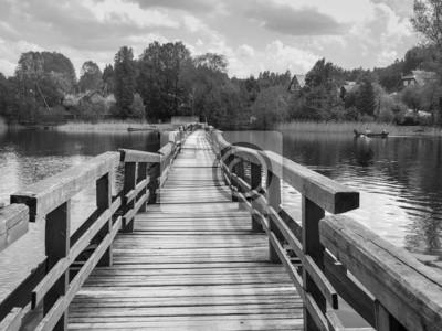 Obraz Most w czerni i bieli