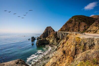 Obraz Most - wiadukt wzdłuż wybrzeża Pacyfiku