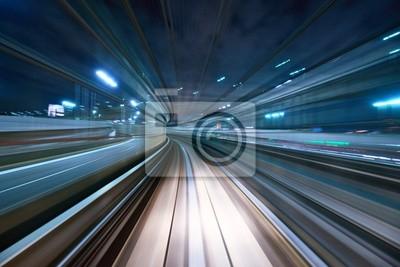 Obraz Motion Blur z Tokyo Monorail
