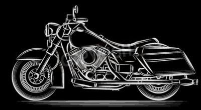 Obraz motocykla wektor