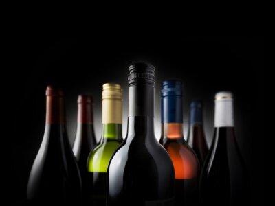 Obraz multi bottles black - Stock Image