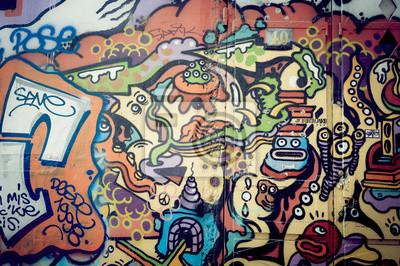 Obraz Mur de graf coloré