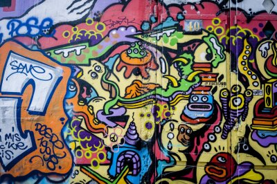 Obraz Mur de graffiti, zabawa