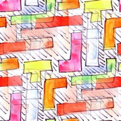 Obraz Mural kolorowe paski tło wektor wzór