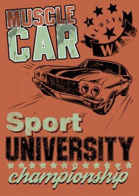 Obraz Muscle car