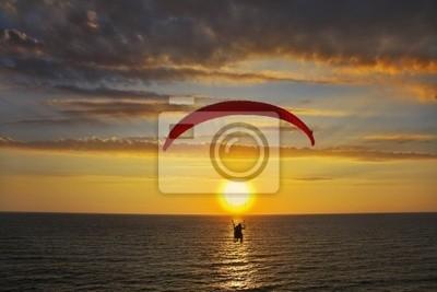 Nad morze na zachód słońca