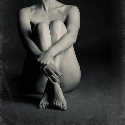 Obraz Naga kobieta siedzi