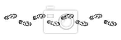 Obraz Nakładki wydrukować profil, wektor, czarny odizolowane,