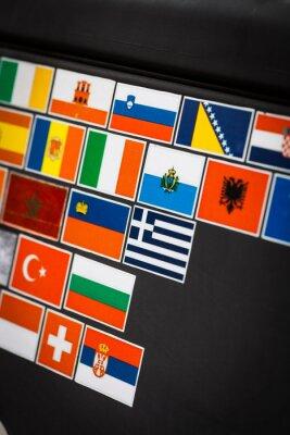 Obraz naklejki flagę kraju