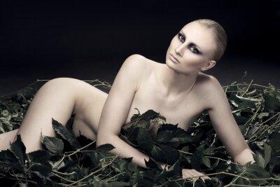 Obraz namiętny i seksowna Rosjanka pięknej figury