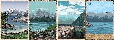 Obraz National parks vintage colorful posters