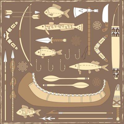 Obraz Native elementy projektowania amerykański łowienie