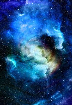 Obraz Nebula, przestrzeni kosmicznej i gwiazd, niebieski abstrakcyjne tło kosmiczne. Elementy tego zdjęcia dostarczone przez NASA.
