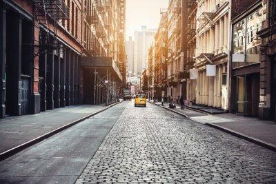 Obraz New York City Manhattan SoHo street at sunset time background