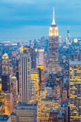 Obraz New York City skyline zmierzchu USA