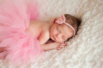 Obraz Newborn Baby Girl na sobie różowy tutu