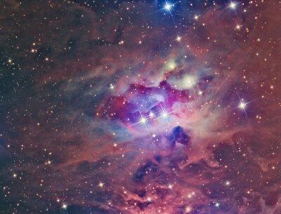 Obraz NGC 1973 Running Man Nebula sfotografowana przez teleskop i naukowej kamery CCD