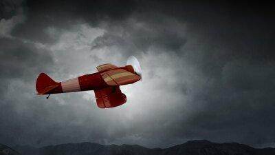 Obraz Niebezpieczeństwo wypadku samolotu. Różne środki przekazu