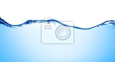 Obraz niebieska woda fala ciecz rozchlapać bańka napój