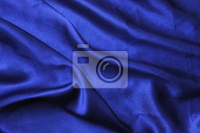 Niebieska zasłona jedwabiu