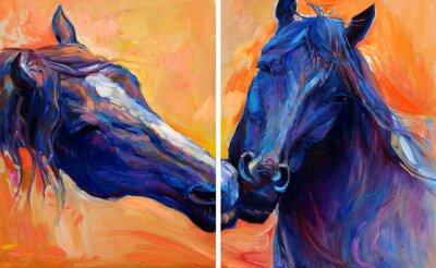 Obraz Niebieskie konie