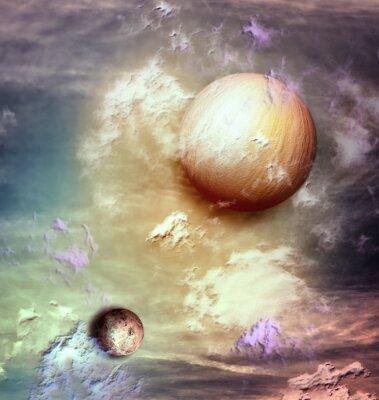 Obraz Niebo z planet