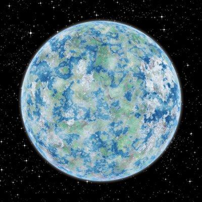 Obraz Niektóre obce planety w przestrzeni kosmicznej