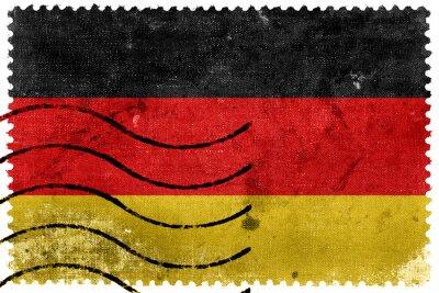 Obraz Niemcy Flaga - stary znaczek znaczek