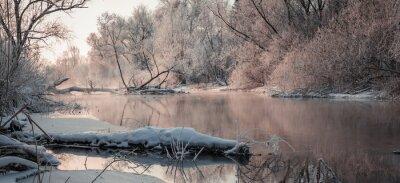 Obraz niepowtarzalny krajobraz zimowy