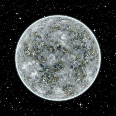Obraz Nieznane obce planety w przestrzeni kosmicznej