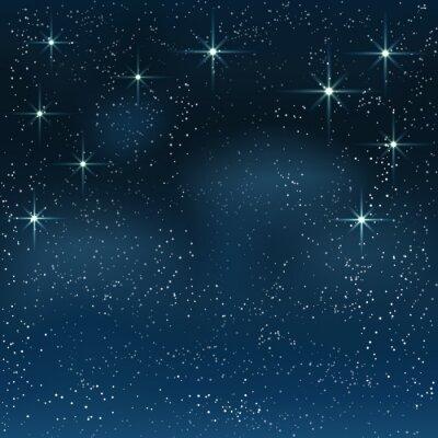 Obraz Noc gwiaździste niebo