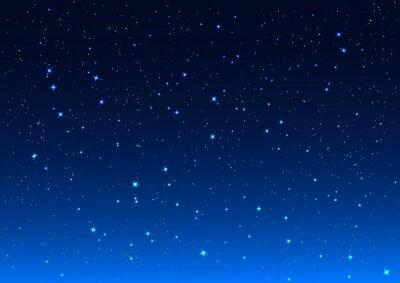 Obraz Nocne niebo. Gwiazdy na nocnym niebie