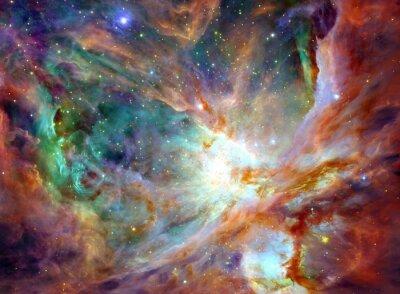 Obraz Nocne niebo z chmurami w tle gwiazdy mgławicy. Kolorowe Fractal farby, zapala się na temat sztuki, abstrakcyjny, kreatywności. Planeta i galaktyki w wolnej przestrzeni. Elementy tego zdjęcia dostarczo
