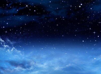 Obraz Nocne niebo z gwiazdami