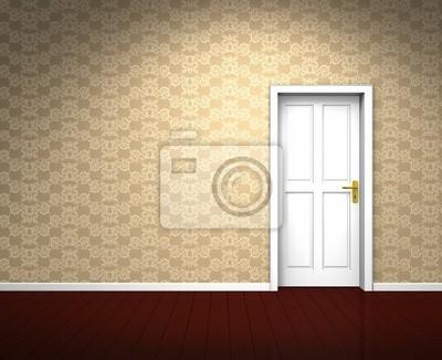 Obraz Nostalgisches beżowo-farbenes Zimmer