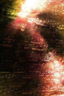 Obraz Notatki z abstrakcyjnym tle
