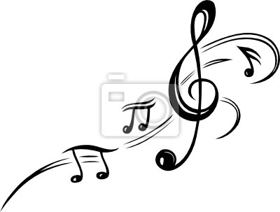 Obraz Noten, Notenschlüssel, Musiknoten, Musik