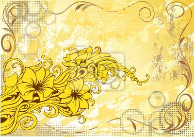 Nowoczesny kwiatowy grunge tło dekoracyjne