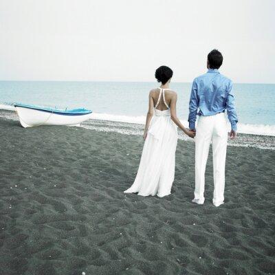 Obraz Nowożeńcy na morzu