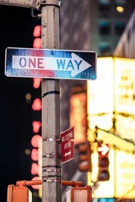 Obraz Nowy Jork w jeden sposób znak drogowy