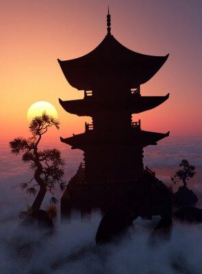 Obraz O zachodzie słońca.