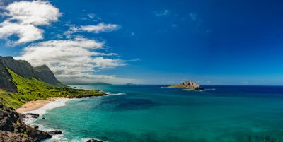 Obraz Oahu wschodniego wybrzeża krajobrazu widoku
