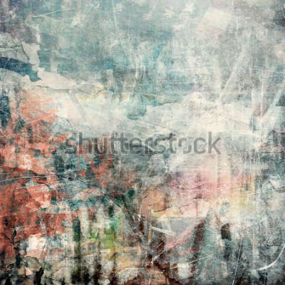 Obraz Obejmuje grunge tło, porysowana tekstura
