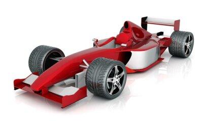 Obraz obraz czerwony samochód sportowy na białym tle