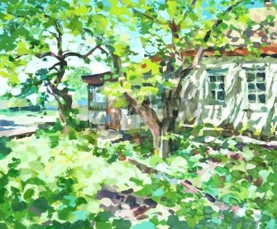 Obraz obraz olejny ilustracji wektorowych. I, Artist, posiada prawa autorskie