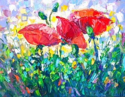 Obraz Olejny Styl Impresjonizmu Malarstwo Tekstury Kwiat Martwa