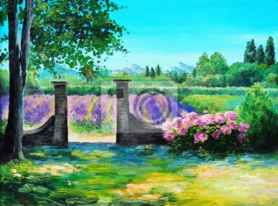 Obraz olejny - Summerfield, kolorowy las