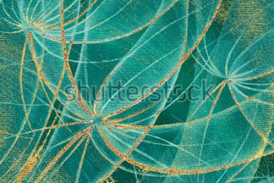Obraz Obraz olejny teksturowanej tło kwiaty mniszek streszczenie ze złotym smugiem i plamy rdzy na płótnie dla projektu, drewniany panel.