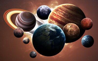 Obraz obrazy wysokiej rozdzielczości prezentuje planety Układu Słonecznego. Ten obraz elementy dostarczone przez NASA