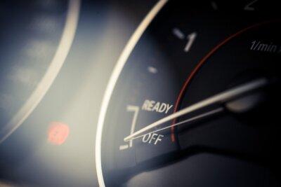 Obraz obrotomierz szczegół samochodu